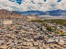 Aerial  view of Leh Stock Photography