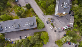 Aerial view of the lehtisa Royalty Free Stock Image
