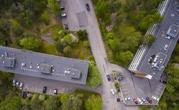 Aerial view of the lehtisa Stock Photo