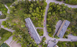Aerial view of the lehtisa Stock Photos