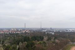 View of Leipzig City From Monument to the Battle of the Nations stock photos