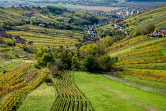 Aerial view of Lendava valley royalty free stock photo