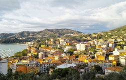 Aerial view of Lerici Royalty Free Stock Images
