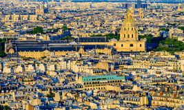 Aerial view of Les Invalides from the Eiffel Towe Royalty Free Stock Photos