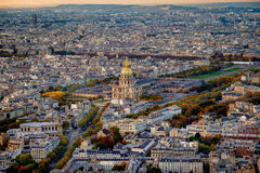 Aerial view of Les Invalides, Paris, France. Royalty Free Stock Image