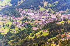 Aerial view of Leuterbrunnen Royalty Free Stock Photography