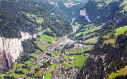 Aerial view of Leuterbrunnen Stock Photography