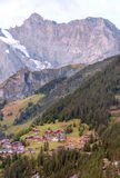Aerial view of Leuterbrunnen Royalty Free Stock Photos