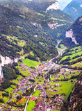 Aerial view of Leuterbrunnen Stock Image