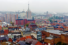 Aerial view of Leuven, Belgium, from University tower-1 Stock Photo