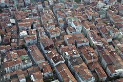 Aerial view on Levent district of Istanbul Stock Photo