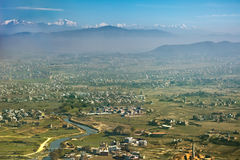 Aerial view of Lhasa Stock Photography