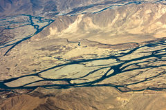 Aerial view of Lhasa landscape Stock Photography