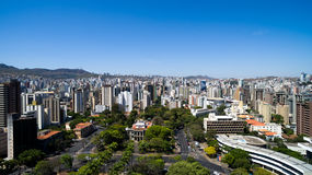 Aerial view of the Liberty Square in Belo Horizonte, Minas Gerais, Brazil Stock Image