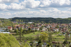 Aerial view of Lidzbark Warminski, Poland Royalty Free Stock Images