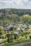 Aerial view of Lidzbark Warminski, Poland Stock Photos