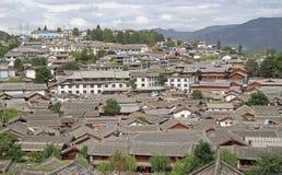 Aerial view of Lijiang, China Royalty Free Stock Photos