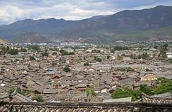 Aerial view of Lijiang, China Stock Photography