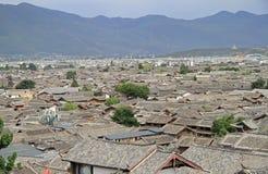 Aerial view of Lijiang, China Stock Photo