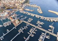 Aerial view of Limassol Marina, Cyprus Royalty Free Stock Images
