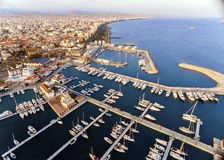 Aerial view of Limassol Marina, Cyprus Stock Image