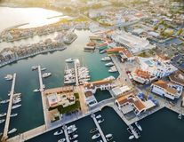 Aerial view of Limassol Marina, Cyprus Royalty Free Stock Photos