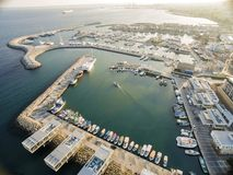 Aerial view of Limassol Old Port, Cyprus Royalty Free Stock Images