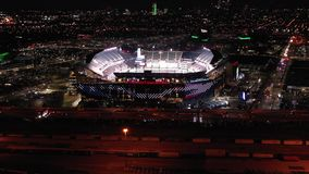 Aerial View Lincoln Financial Field at Night