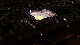 Aerial View Lincoln Financial Field Philadelphia at Night on Gameday stock video