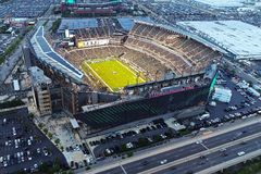 Aerial View Lincoln Financial Field Philadelphia PA stock photography