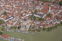 Aerial view of Lindau at Lake Constance Royalty Free Stock Photos