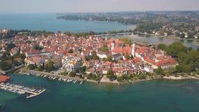 Aerial view of Lindau stock video
