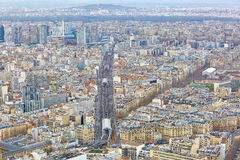 Aerial view of line 6 of Parisian metro Royalty Free Stock Images