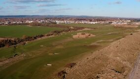 Aerial view of the Links Golf Course at Littlehampton