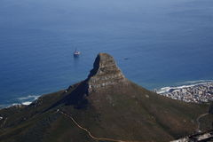 Cape Town View - Lions Head. Aerial view of lions head cape town Royalty Free Stock Photography