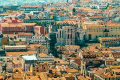Aerial View Of Lisbon City Rooftops, Portugal royalty free stock image