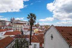 Aerial view of Lisbon city Royalty Free Stock Images
