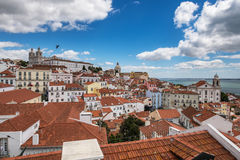 Aerial view of Lisbon city Stock Photography