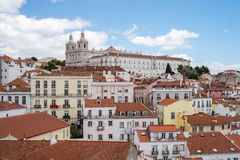 Aerial view of Lisbon city Stock Photo
