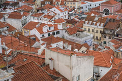 Aerial view of Lisbon city Royalty Free Stock Photography