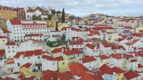 Aerial view of Lisbon stock video