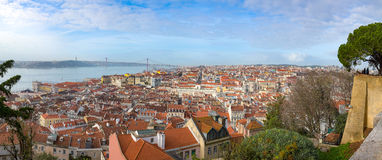 Aerial view of Lisbon Stock Photography