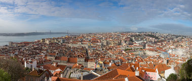 Aerial view of Lisbon Royalty Free Stock Photos