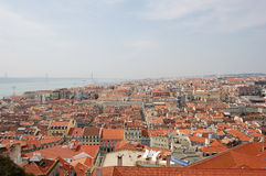 Aerial view of Lisbon (Portugal) Royalty Free Stock Image