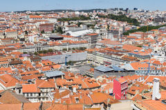 Aerial view of Lisbon Stock Image