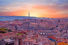 Aerial view from Lisbon in Portugal Royalty Free Stock Photos