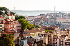 Aerial view of Lisbon, Portugal Stock Image