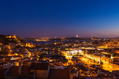 Aerial view of Lisbon rooftop from Senhora do Monte viewpoint (M Stock Images