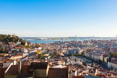 Aerial view of Lisbon rooftop from Senhora do Monte viewpoint (M Stock Photography