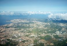 Aerial view of Lisbon - Royalty Free Stock Photography